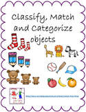 Classify and Categorize objects:  Math Lessons 1-5
