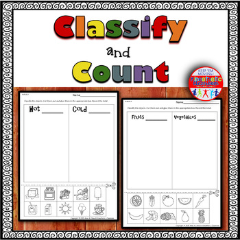 Classify and Count Worksheets - Cut & Paste