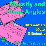 Classify and Name Angles Self Checking Task Cards | PRINT