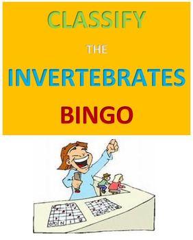Classify the Invertebrates Bingo