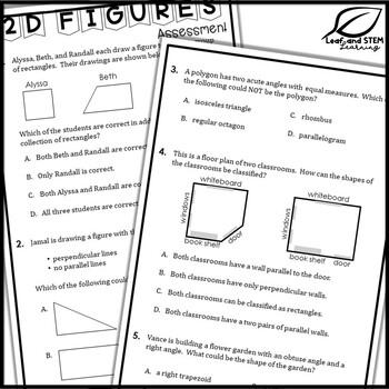 Classifying 2-D Figures Interactive Notebook Set