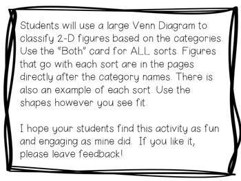 Classifying 2-D Shapes {Third Grade TEKS}