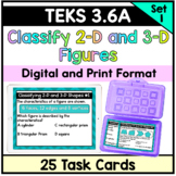 Classifying 2-D and 3-D Figures - TEKS 3.6(A)