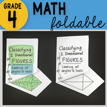 Math Doodle - Classifying 2-Dimensional Figures ~ INB Foldable Notes ~