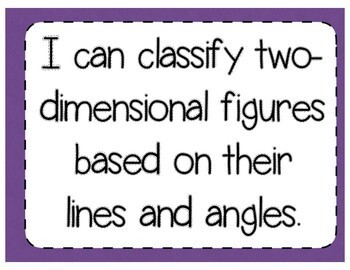 Classifying 2-Dimensional Shapes Interactive Notebook & Quick Check TEKS 4.6D