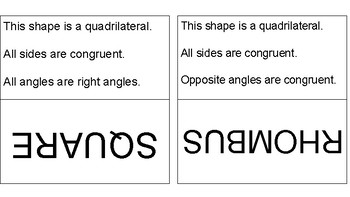 Classifying 2D Shapes Activity Pack