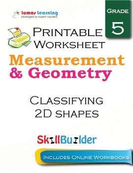 Classifying 2D Shapes Printable Worksheet, Grade 5