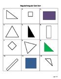 Classifying 2D Shapes Regular vs. Irregular