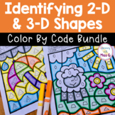 Classifying 2D and 3D Shapes Color By Code Bundle