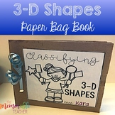 Classifying 3D Shapes Paper Bag Book