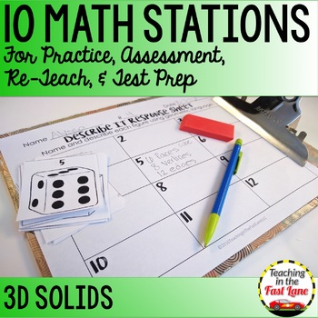 Classifying 3D Solids Math Stations
