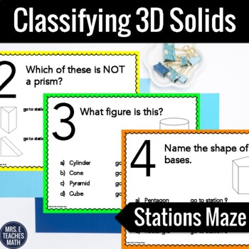 Classifying 3D Solids Stations Maze Activity
