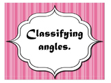 Classifying Angles- Acute, Obtuse, and Right