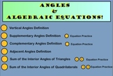 Classifying Angles & Algebraic Equations!  SmartBoard Notebook