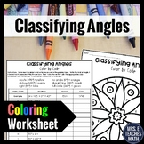 Classifying Angles Color By Number  4.MD.5