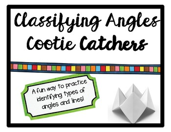 Classifying Angles Cootie Catchers