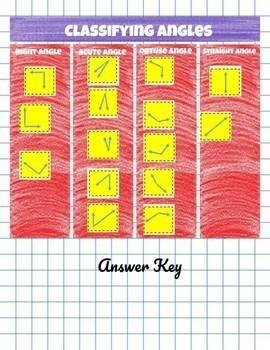Classifying Angles DIGITAL Sort- Google Slides
