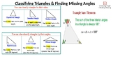 Classifying Angles & Finding Missing Angles in Triangles Review