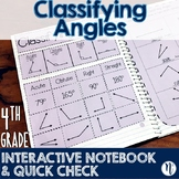 Classifying Angles Interactive Notebook Activity & Quick Check TEKS 4.6C