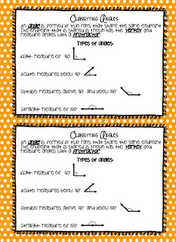 Classifying Angles Journal Cut Out