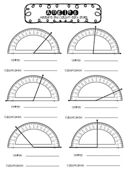 Classifying Angles Journal Resource and Worksheet