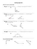 Classifying Angles Notes