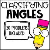 Classifying Angles based on Angle Measurements - TEKS 4.6C