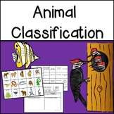 Animal Classification Sorting Game and Research Activities