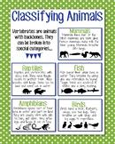 Classifying Animals Anchor Chart, Green Polka Dot