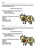 Classifying Animals Exit Ticket