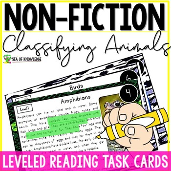 Nonfiction Leveled Reading Passages and Questions - Classifying Animals
