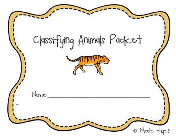 Classifying Animals Packet