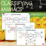 Classifying Animals Graphic Organizer