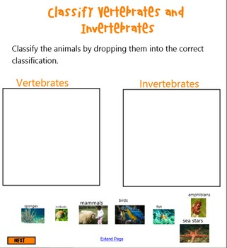 Classifying Animals Smart Notebook Lesson