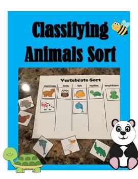 Classifying Animals Sort ~Freebie~