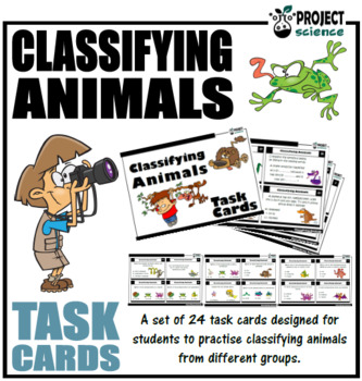 Classifying Animals Task Cards