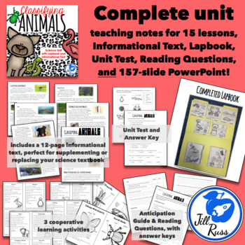 Classifying Vertebrate Invertebrate Animals Unit, Lapbook, Informational Text