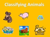 Classifying Animals:  Zoo, Farm, or Pet