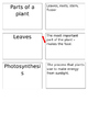 Classifying Animals and Parts of a Plant Review Task Cards