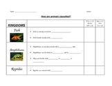 Classifying Animals into Fish, Amphibians, Reptiles, Birds and Mammals