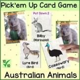 Australian Animal Classification Card Game Pick Them All U