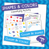 Classifying Colors and Shapes Activity and Sorting Mats