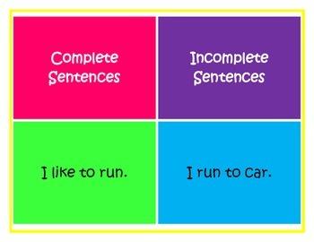 Classifying Complete Sentences