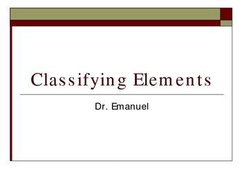 Classifying Elements