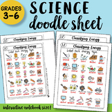 Classifying Energy Doodle Sheet - So Easy to Use! PPT Included! Notes
