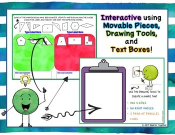 Classifying Geometric Figures Interactive Practice for Google Classroom