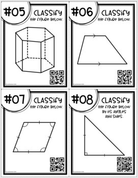 Classifying Geometric Figures (Task Cards)