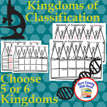 Classifying Kingdoms Taxonomy Graphic Organizer for Biology