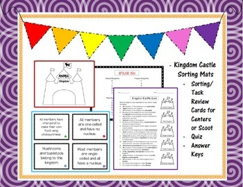 Kingdoms & Classifying Living Things BUNDLE- PowerPoint, Task Cards Center, Quiz