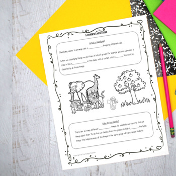 Classifying Living Things PowerPoint and Worksheets